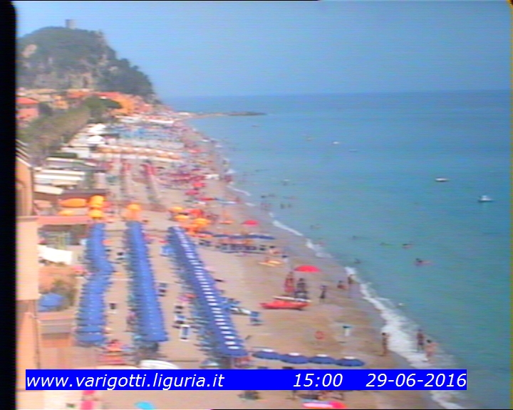 Webcam Varigotti spiaggia (SV)